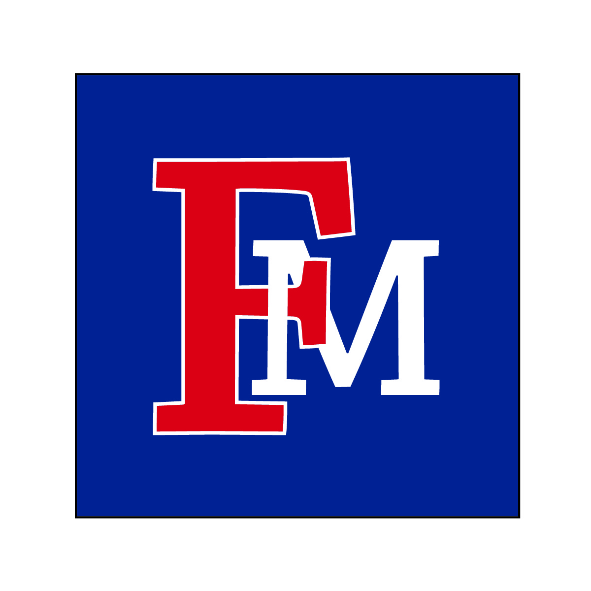FMU Logo with Blue Background
